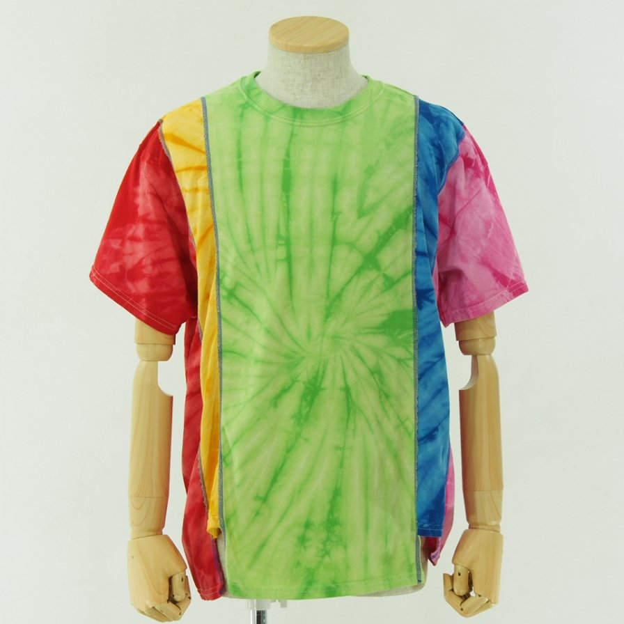Rebuild by Needles リビルドバイニ−ドルズ - 5 Cuts Tee - Tie Dye - Spider - Green