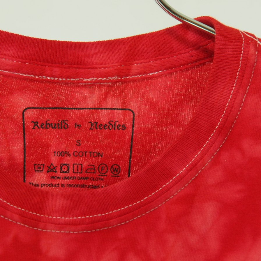 Rebuild by Needles リビルドバイニ−ドルズ - 5 Cuts Tee - Tie Dye - Spider - Red