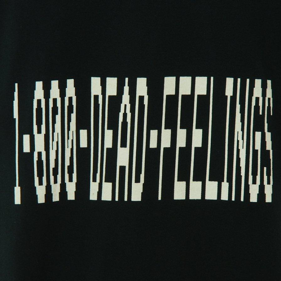 Dead Feelings デッドフィーリングス - Printed T-Shirt - Dead Feeling Logo - Black