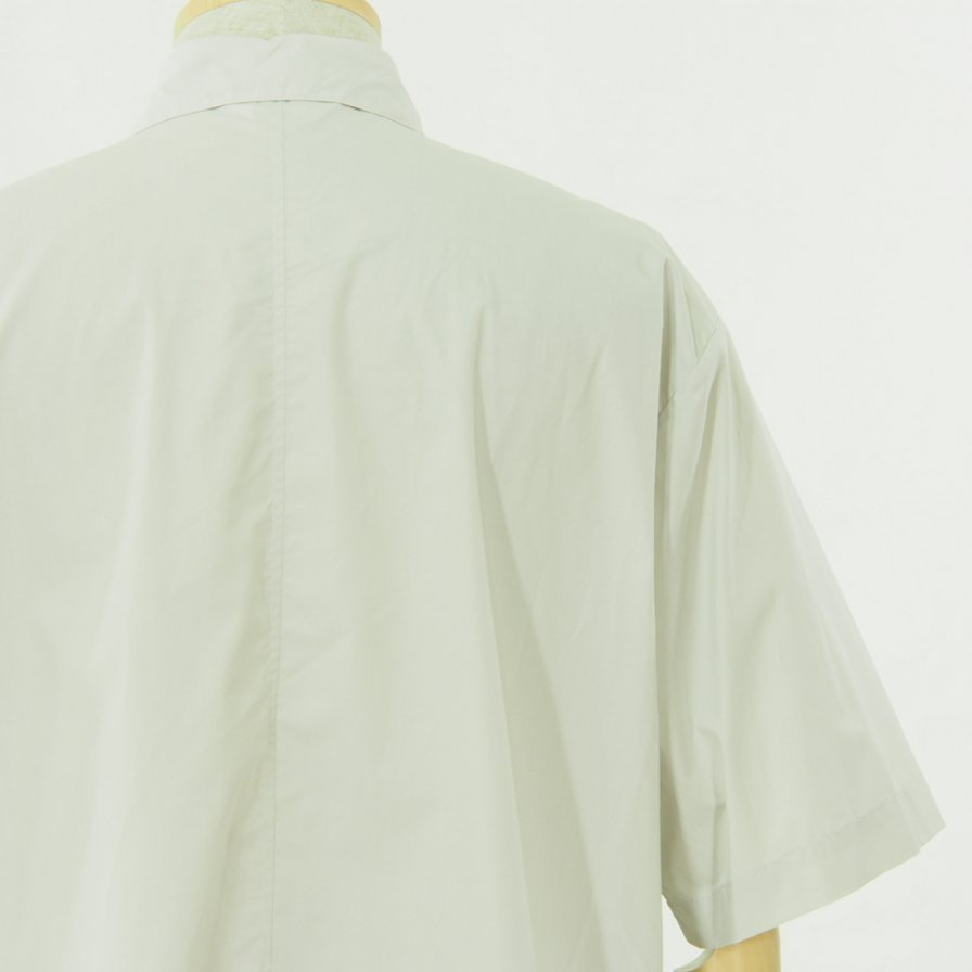 STILL BY HAND - Cotton Double Pocket S/S Shirt - L.Grey