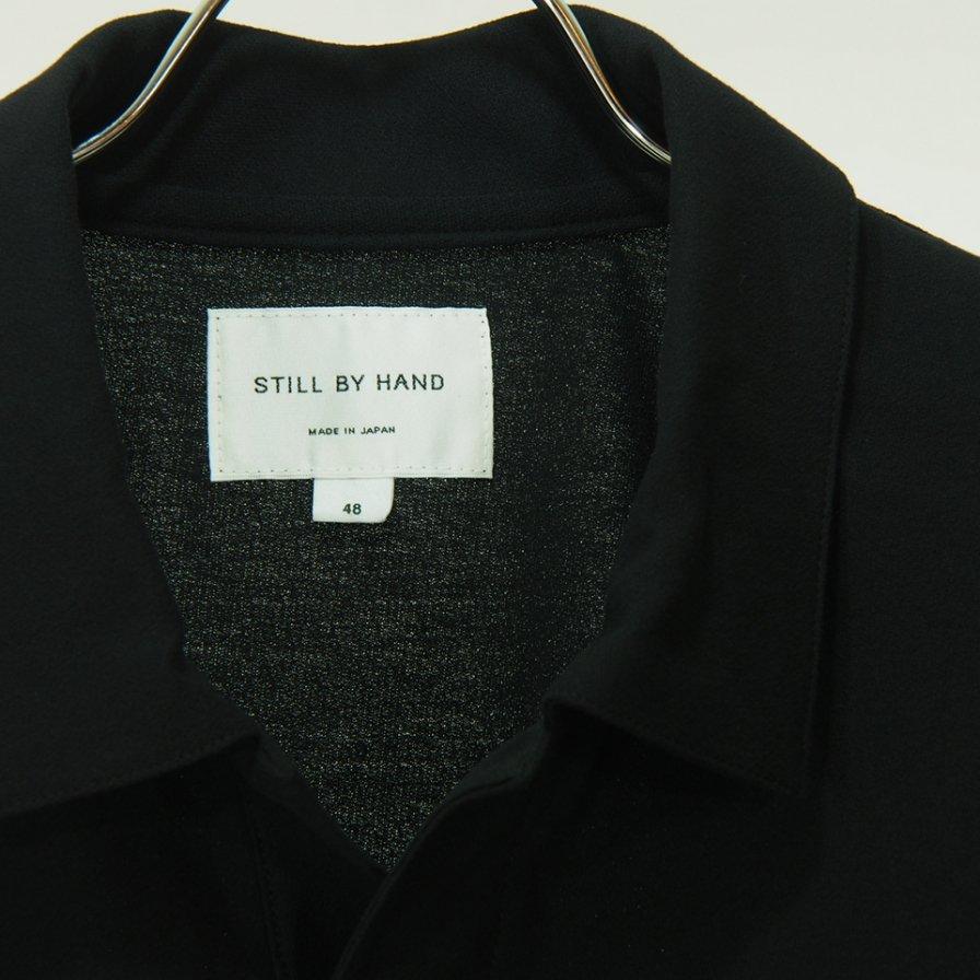STILL BY HAND - Cotton Over Size Skipper - Black