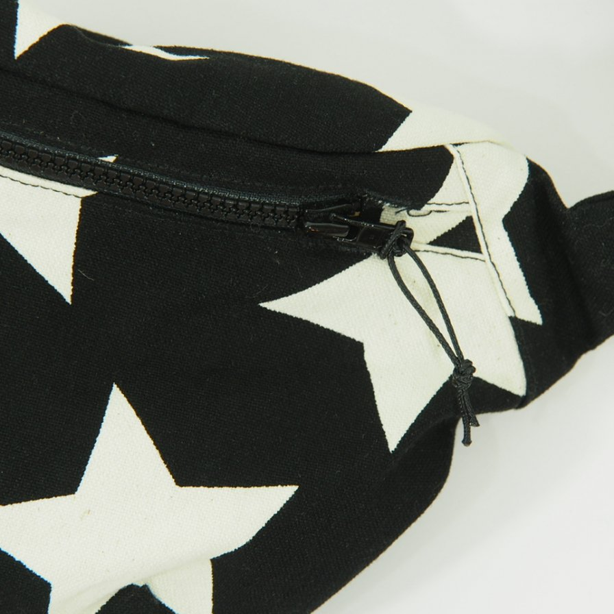 AiE - Waist Pouch - 9oz Star Canvas - Blk / Nat