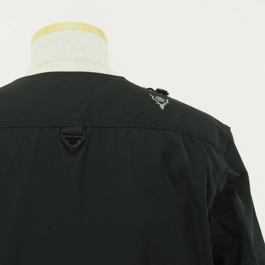 South2 West8 サウスツーウエストエイト - Tenkara Jacket - Poly Gabardine - Black