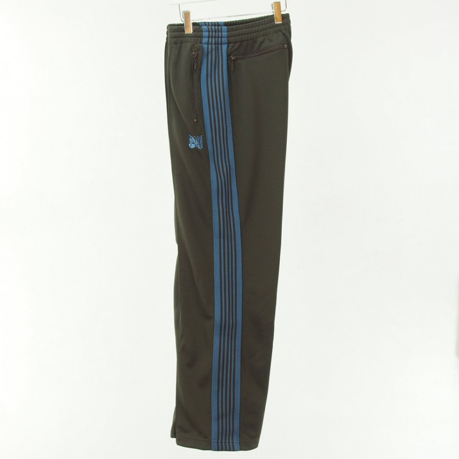 Needles ニードルズ - Track Pant - Poly Smooth - Brown
