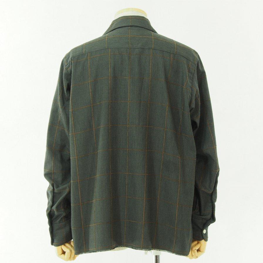 Needles ニードルズ - C.O.B. Classic Shirt - C/Pe/R Plaid Twill - Charcoal