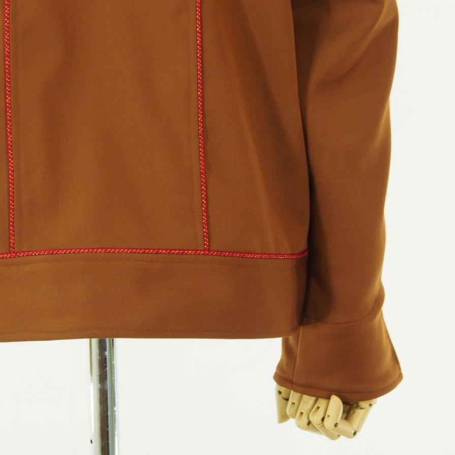 Needles Women ニードルズウィメン - Piping Cowboy Leisure Jacket - Pe/R  Dosekin - Brown