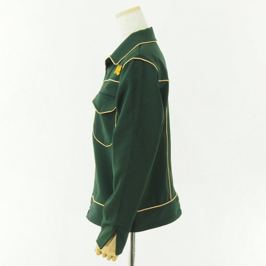 Needles Women ニードルズウィメン - Piping Cowboy Leisure Jacket - Pe/R  Dosekin - Green