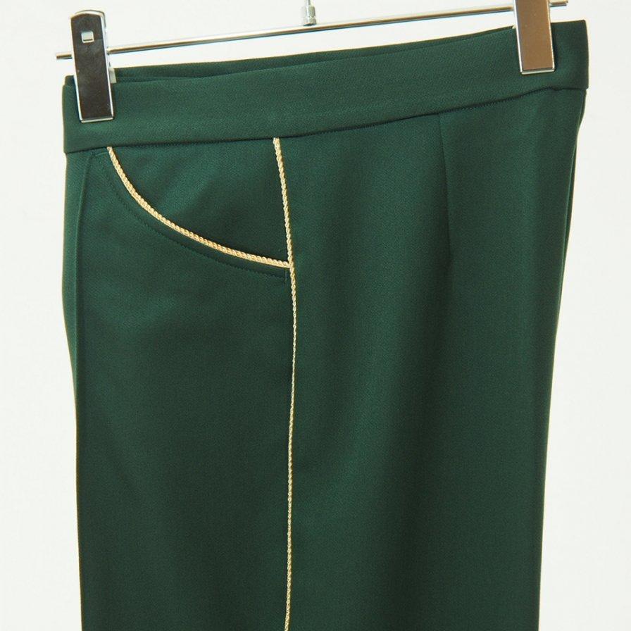 Needles Women ニードルズウィメン - Piping C.S. Leisure Pant - Pe/R Dosekin - Green
