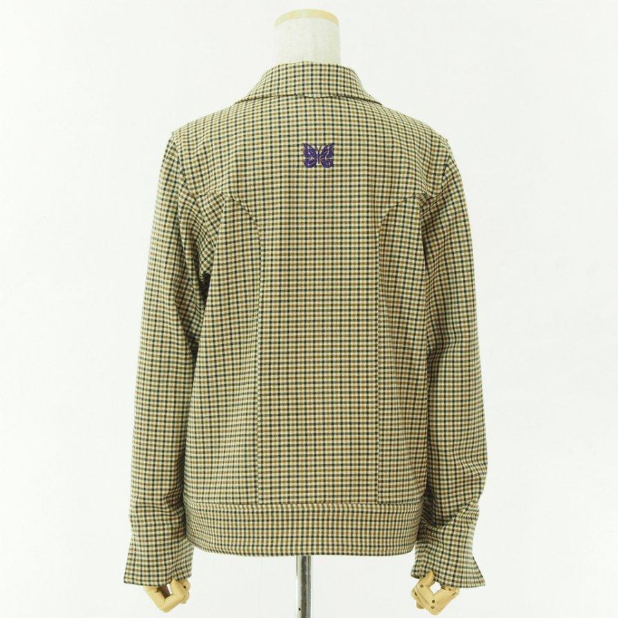 Needles Women ニードルズウィメン - Cowboy Leisure Jacket - Gunclub Plaid - Yellow