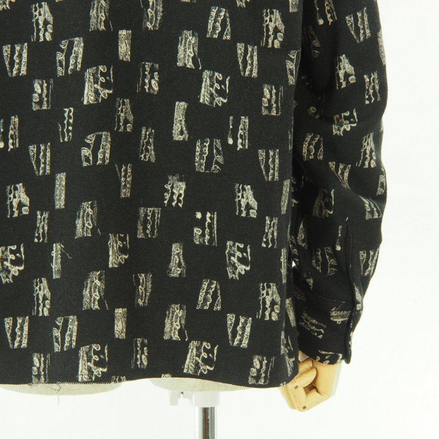Needles ニードルズ - C.O.B. Classic Shirt - W/N Melton / Pt. - Brush Block