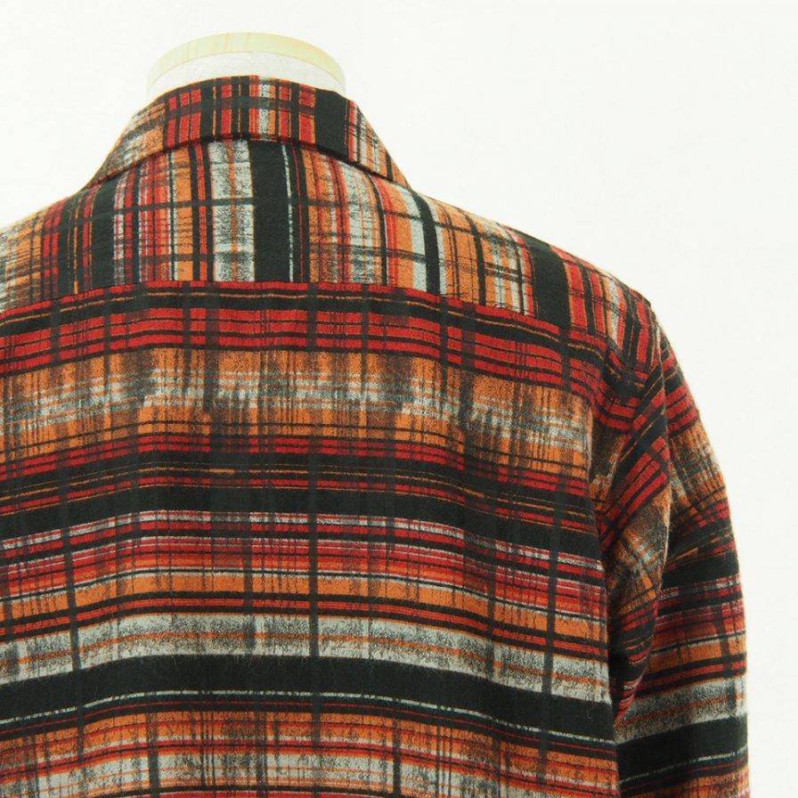 Needles ニードルズ - C.O.B. Classic Shirt - Plaid Jq. - Red / Black