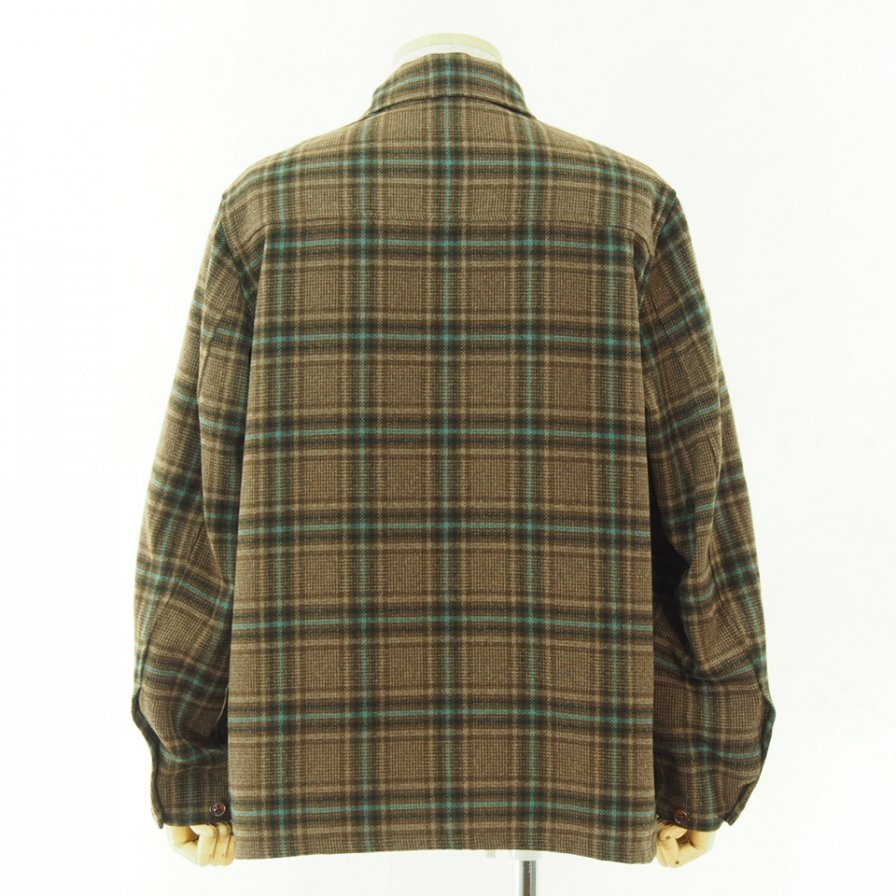 Needles ニードルズ - D.N. Coverall - Plaid Tweed - Brown