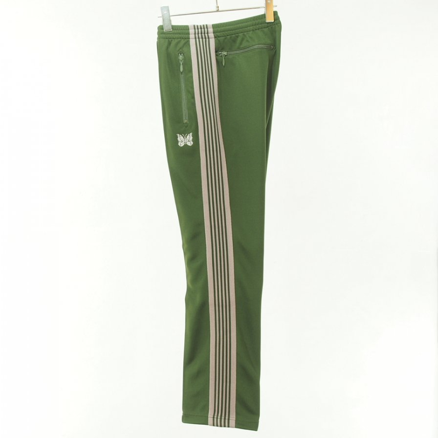 Needles ニードルズ - Narrow Track Pant - Poly Smooth - Olive