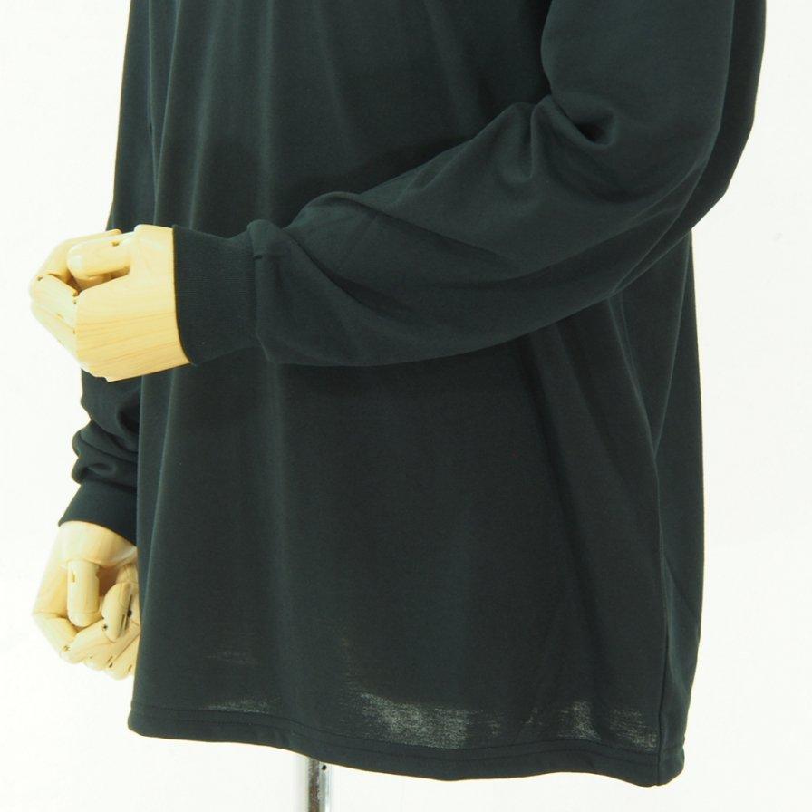Needles ニードルズ - L/S Mock Neck Tee - Poly Jersey - Black