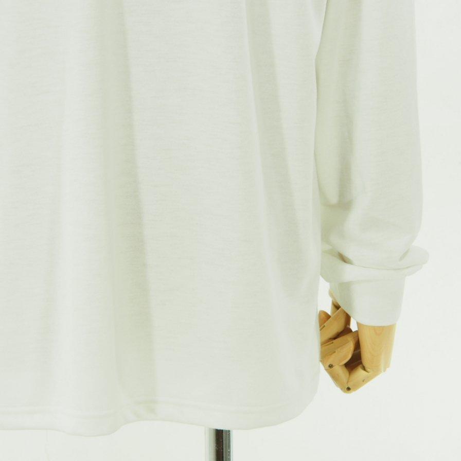 Needles ニードルズ - L/S Turtle Neck Tee - Poly Jersey - White