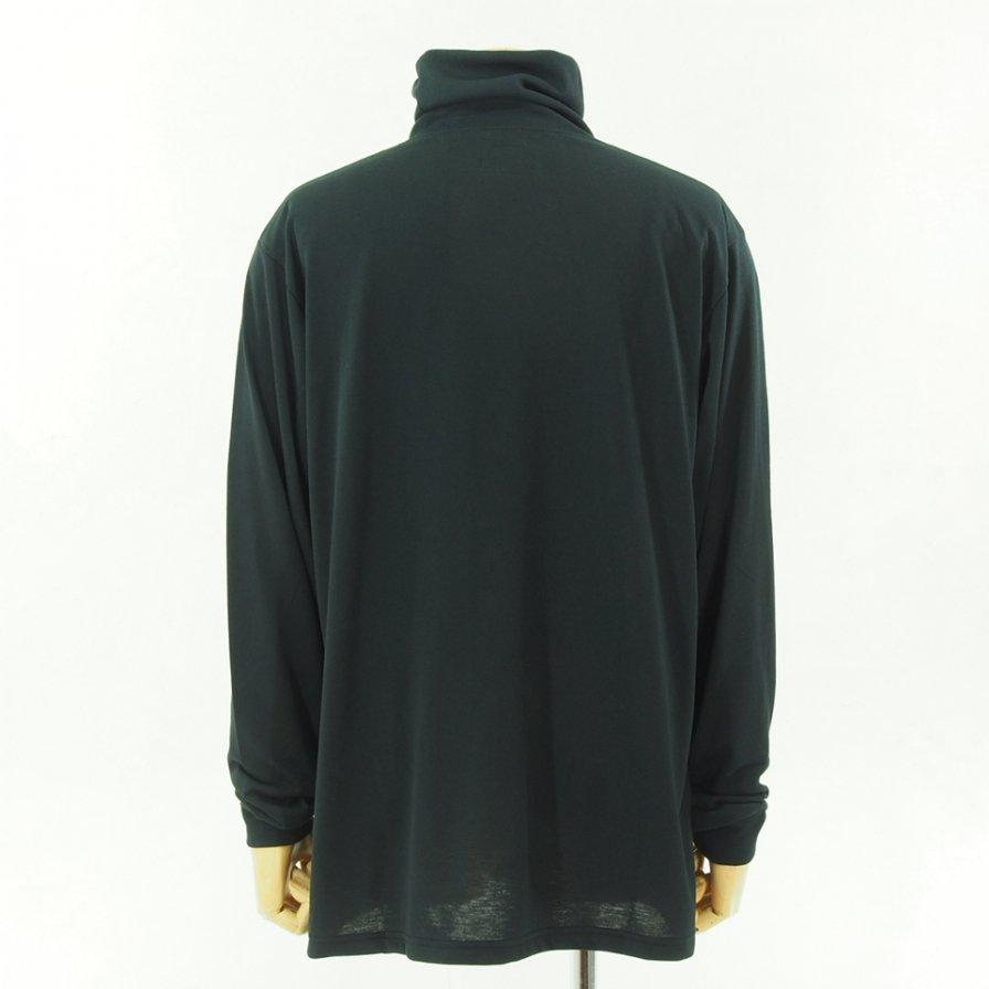 Needles ニードルズ - L/S Turtle Neck Tee - Poly Jersey - Black
