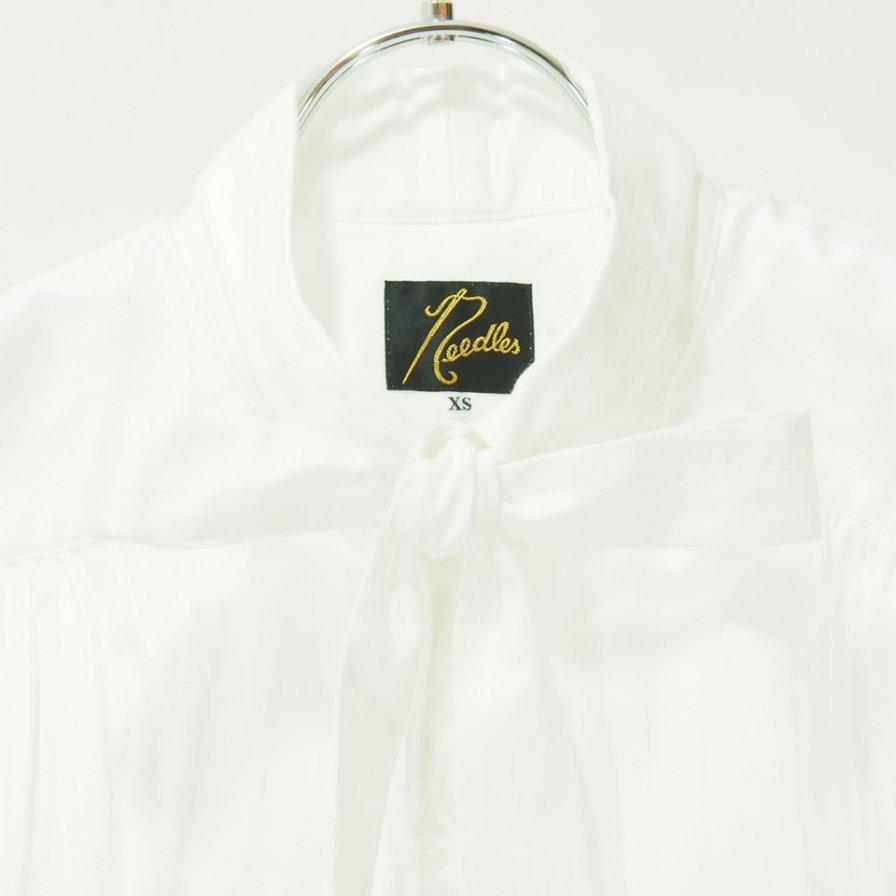 Needles ニードルズ - Ascot Collar EDW Shirt - Dobby Stripe - Off White