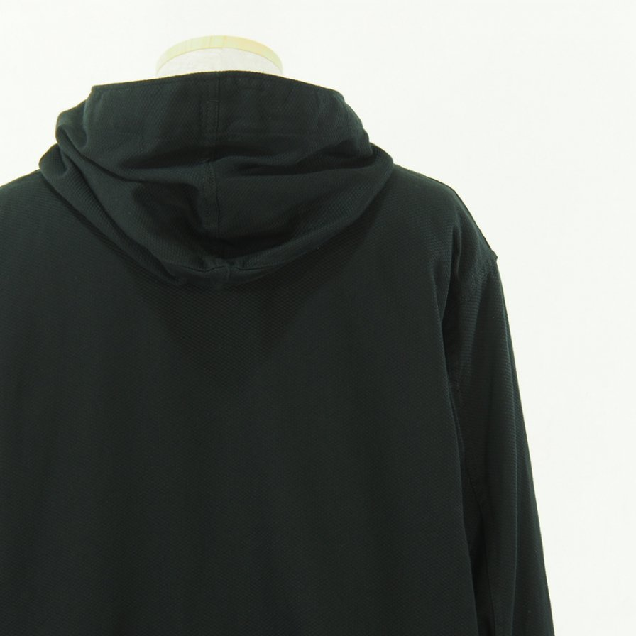 Engineered Garments エンジニアドガーメンツ - Cagoule Shirt -  Waffle Pique - Black