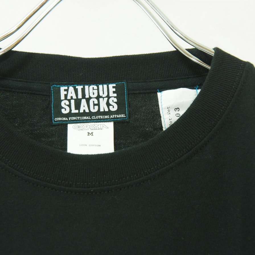 CORONA Fatigue Slacks - コロナ ファテーグスラックス - Lable Design Tee - Black
