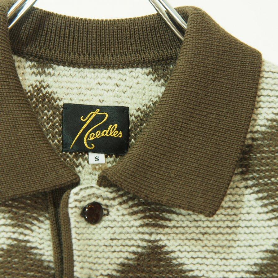 Needles ニードルズ - Polo Sweater - Checkered - Dk.Brown