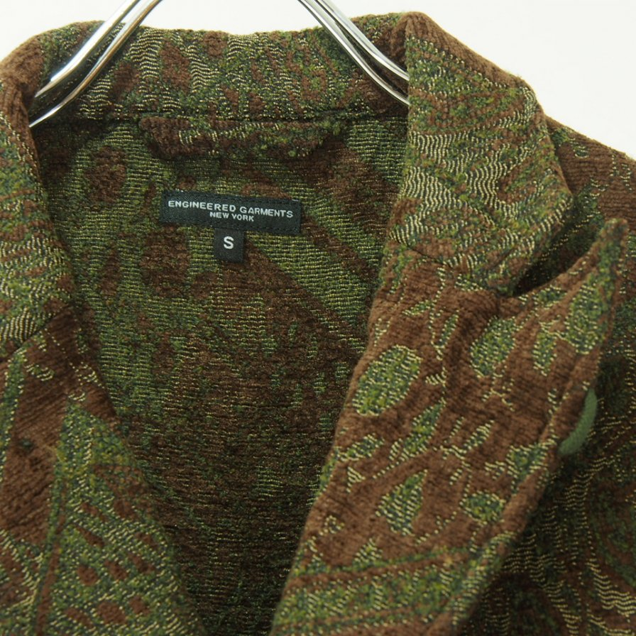 Engineered Garments エンジニアドガーメンツ - NB Jacket -  Chenille - Olive / Brown