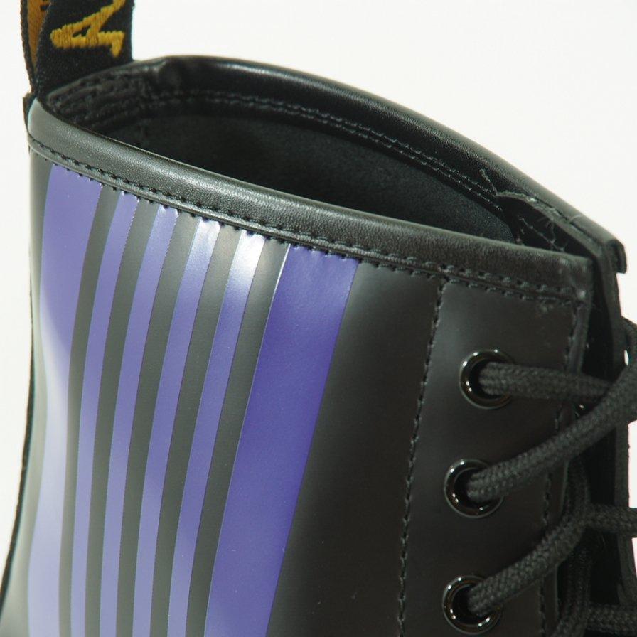 Needles × Dr.Martens ニードルズ × ドクターマーチン - Needles Special 8 Holes Stripe Boot - Black