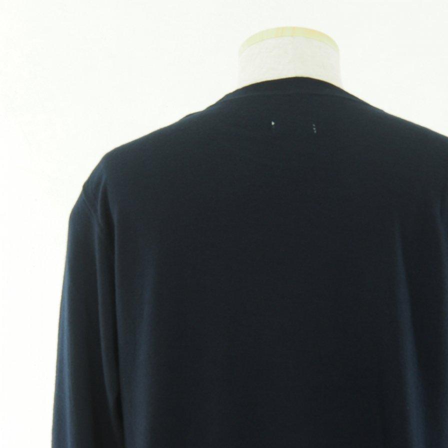 ts(s) ティーエスエス - Crew Neck Shirt - Washable High Gauge Wool Jersey - Navy