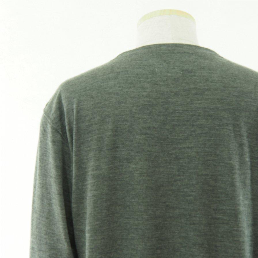 ts(s) ティーエスエス - Crew Neck Shirt - Washable High Gauge Wool Jersey - Gray