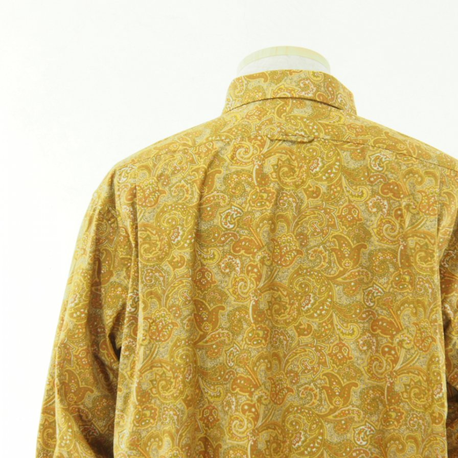 Engineered Garments エンジニアドガーメンツ - Short Collar Shirt - Paisley Print -   Tan/Olive