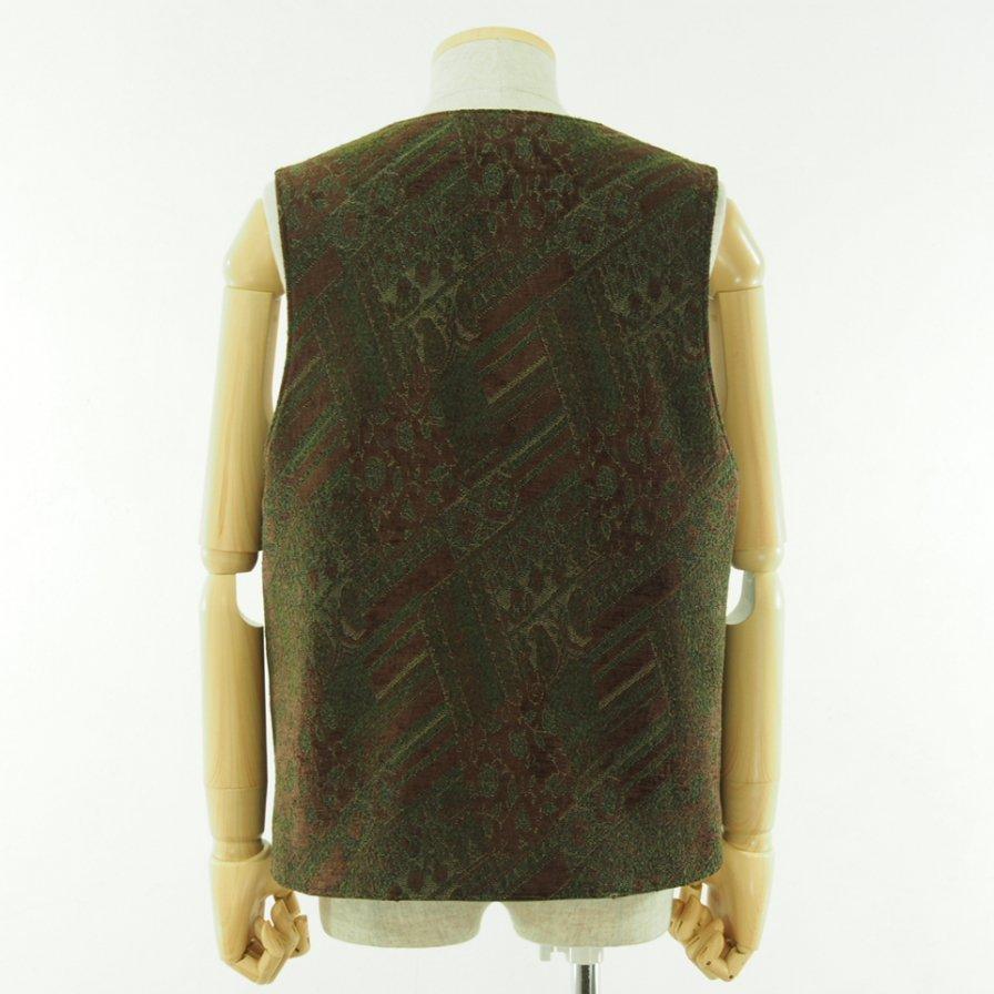 Engineered Garments エンジニアドガーメンツ - Over Vest - HB Twill - Olive