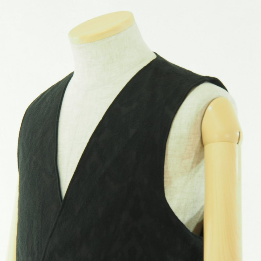 Engineered Garments エンジニアドガーメンツ - Reversible Vest - Wool Gabardine - Black