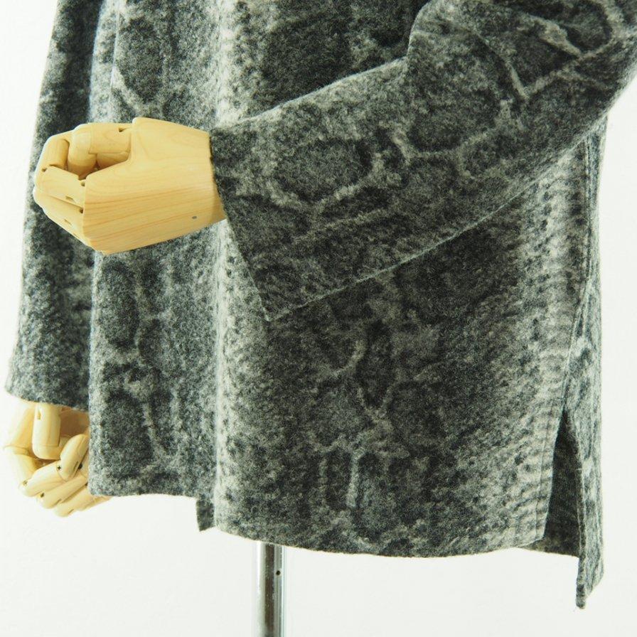 Engineered Garments エンジニアドガーメンツ - Mock Turtle - Snake Print Knit - Grey