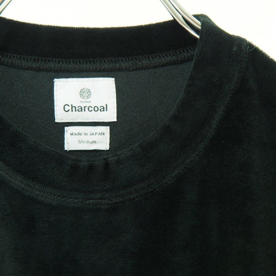 Charcoal チャコール - OC Velour  Foot L/S Pocket Tee - Black