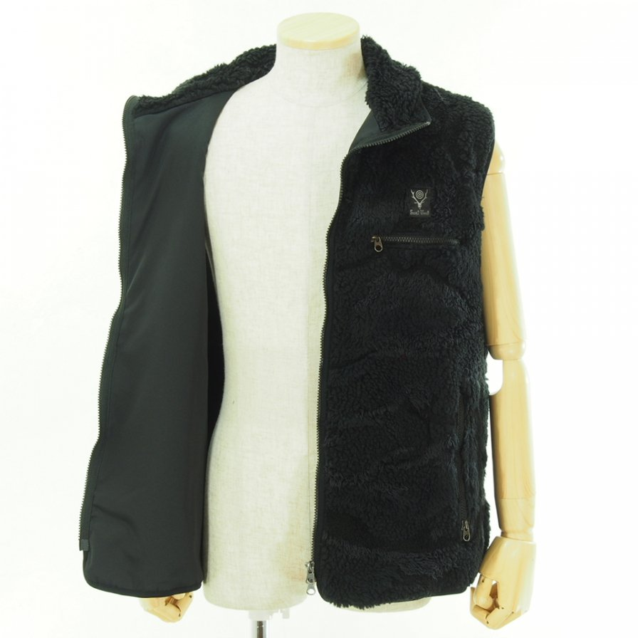 South2 West8 サウスツーウエストエイト - Piping Vest - Boa Jq. - Black