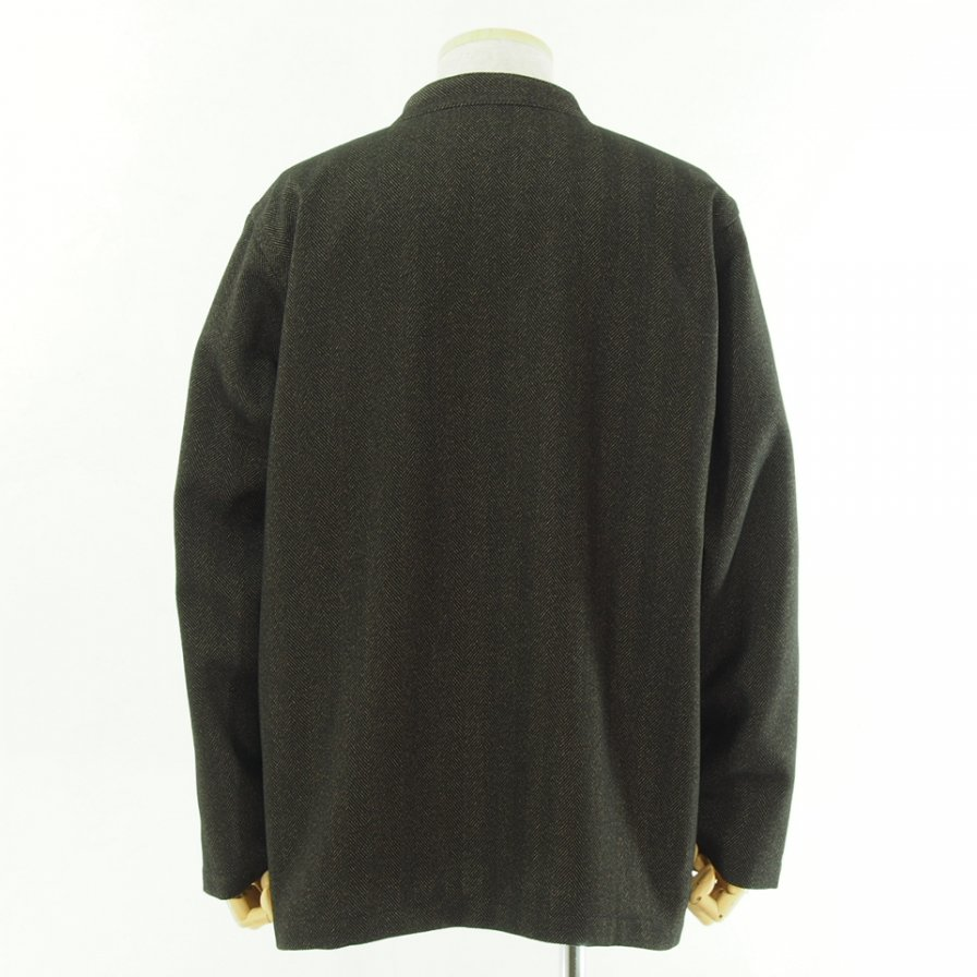 the conspires コンスパイアーズ - Stand Collar HB Jacket - Brown