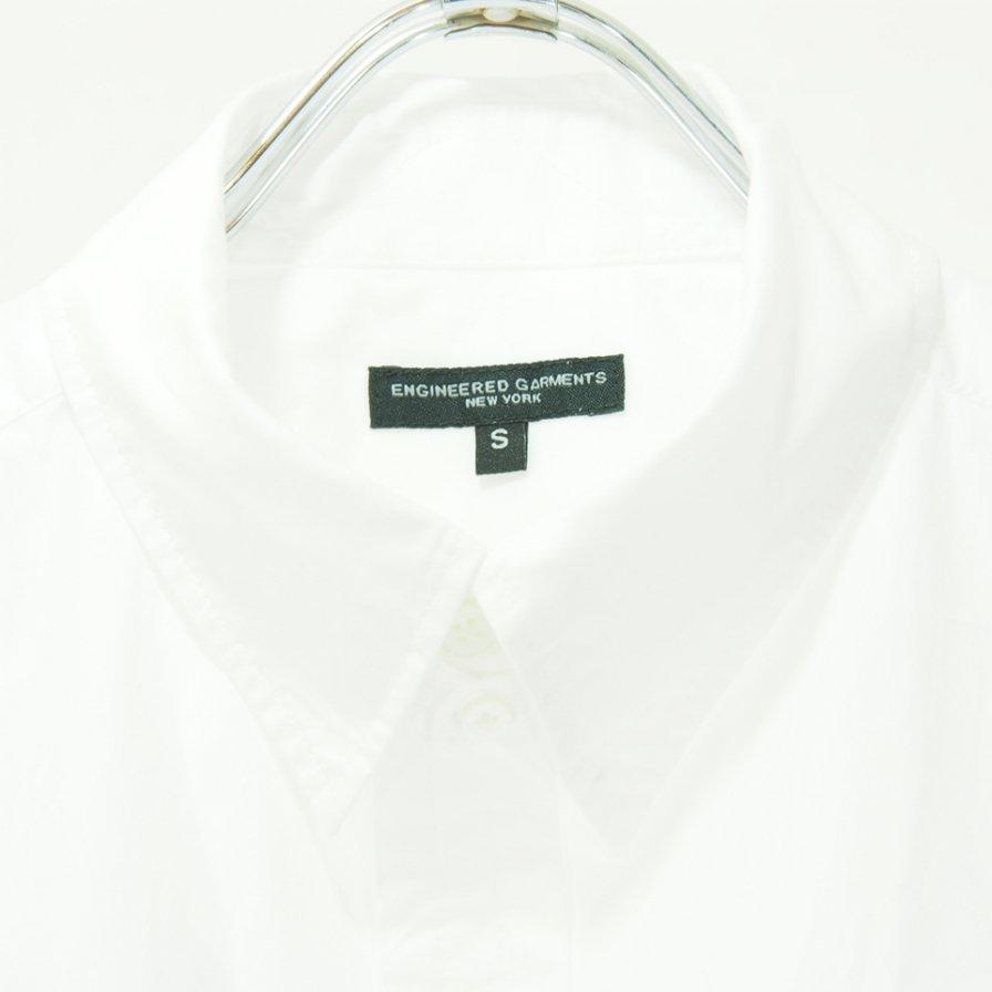 Engineered Garments エンジニアドガーメンツ - Tab Collar Shirt - 100's Broadcloth - White