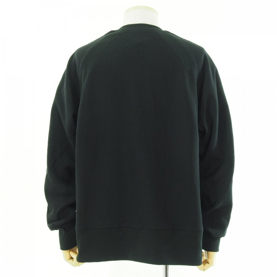 Engineered Garments エンジニアドガーメンツ - Raglan Crew w Tape - Fleece - Black