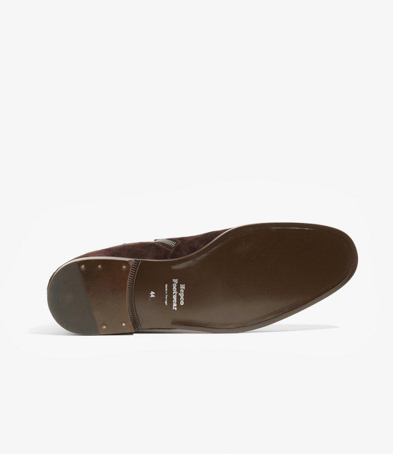 NEPCO FOOTWEAR ネプコフットウェアー - Medallion Boot With Tassel Fringe - Brown Suede