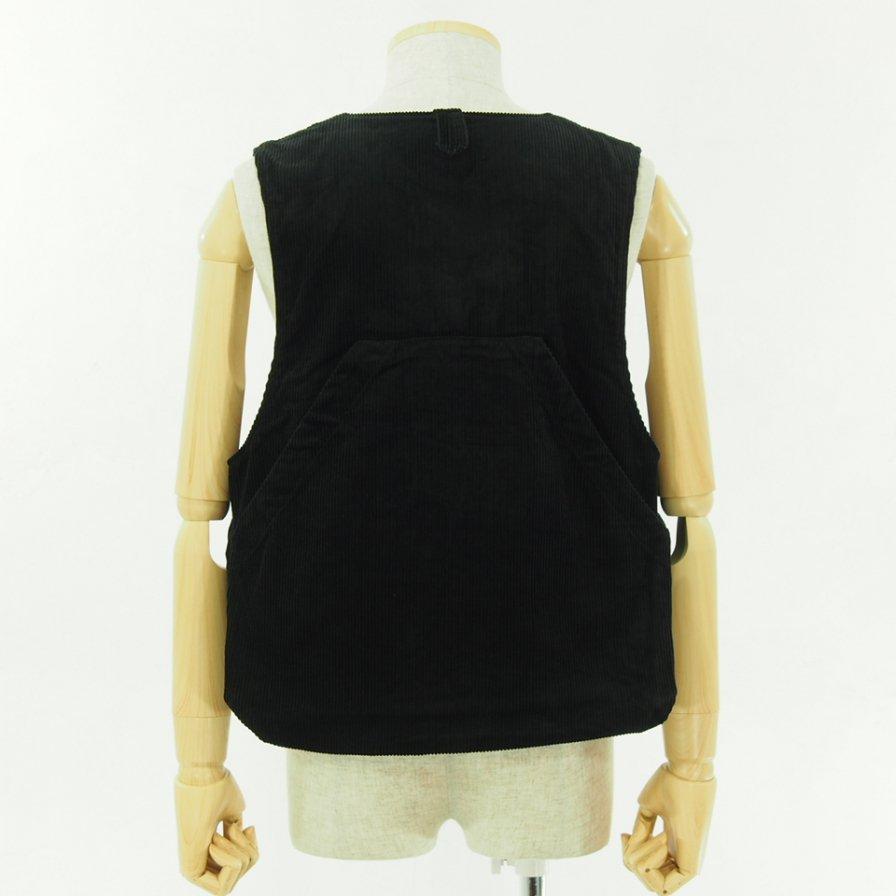 Engineered Garments エンジニアドガーメンツ - Long Fowl Vest - 8W Corduroy - Black