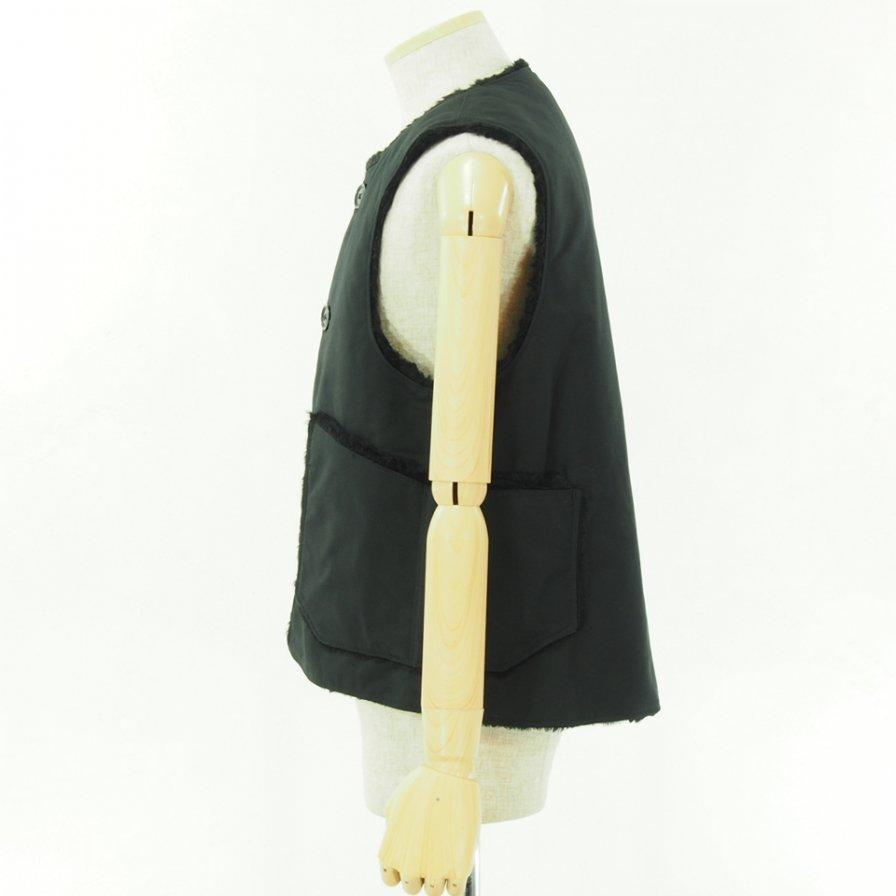 Engineered Garments エンジニアドガーメンツ - Over Vest - Double Cloth - Black