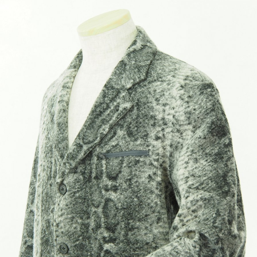 Engineered Garments エンジニアドガーメンツ - Leisure Jacket - Snake Print Knit - Grey