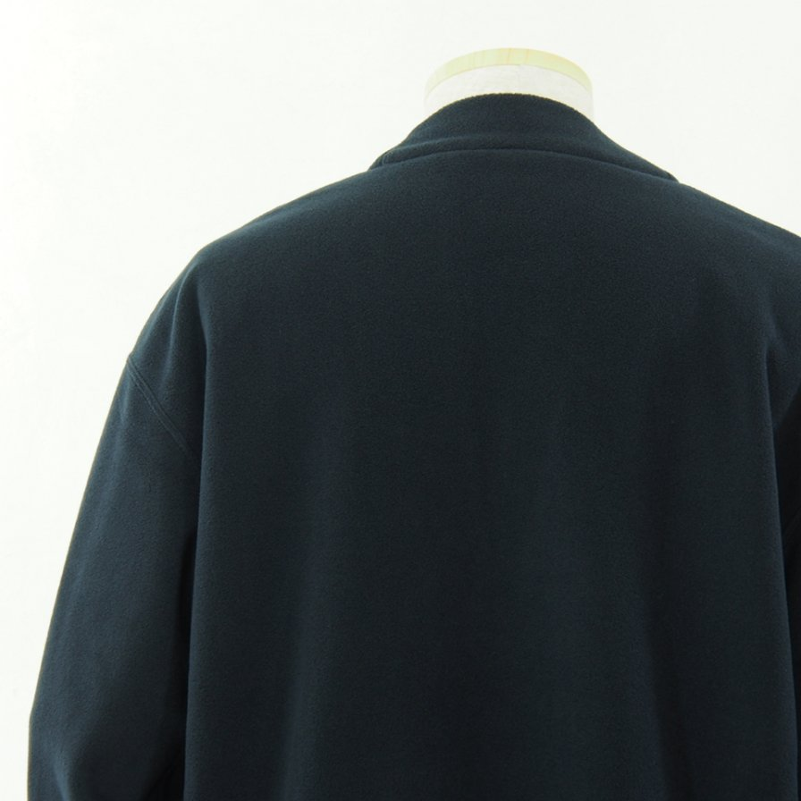 ts(s) ティーエスエス - Lined Easy Cardigan - Viscose Fleece Jersey - Navy