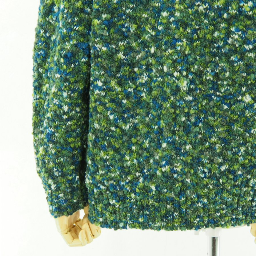 ts(s) ティーエスエス - Knit Cardigan - Hand Dye Mixed Color Slub Loop Yarn Knit - Green