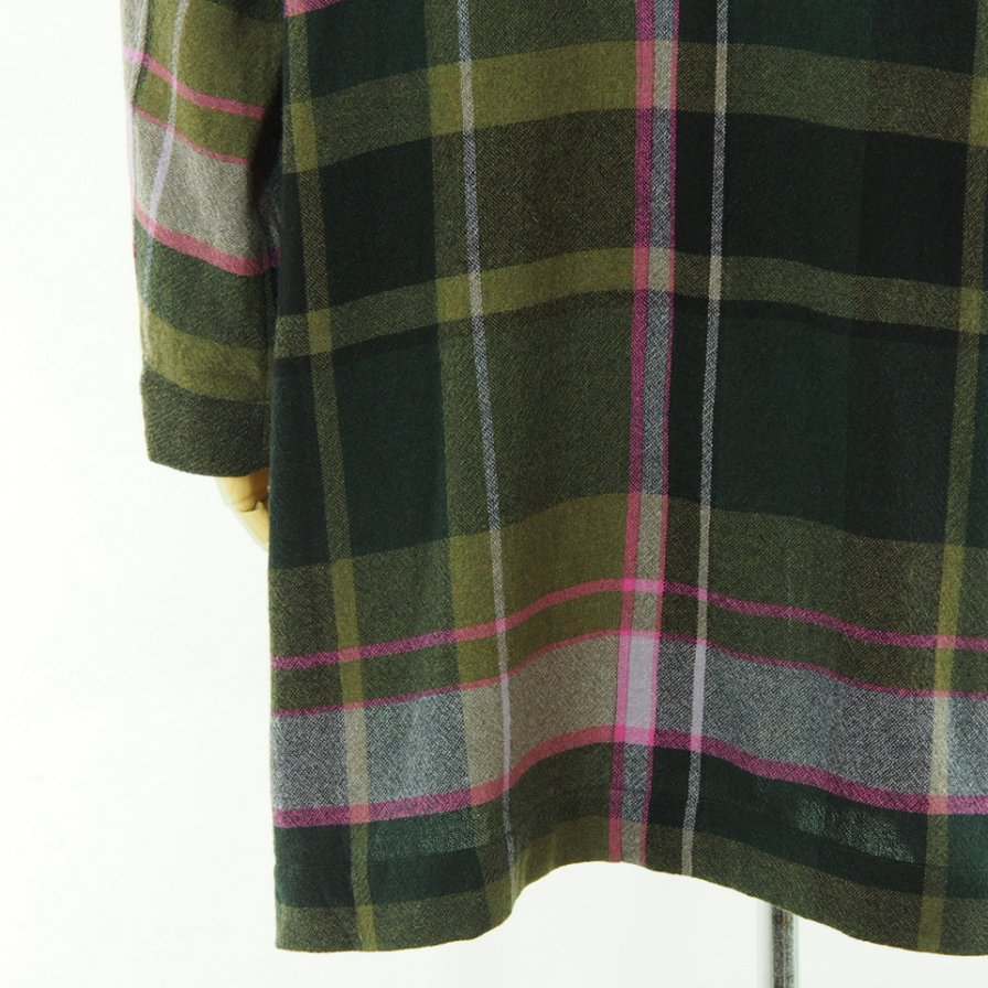 ts(s) ティーエスエス - Shirt Coat - Large Pitch Color Plaid - Green