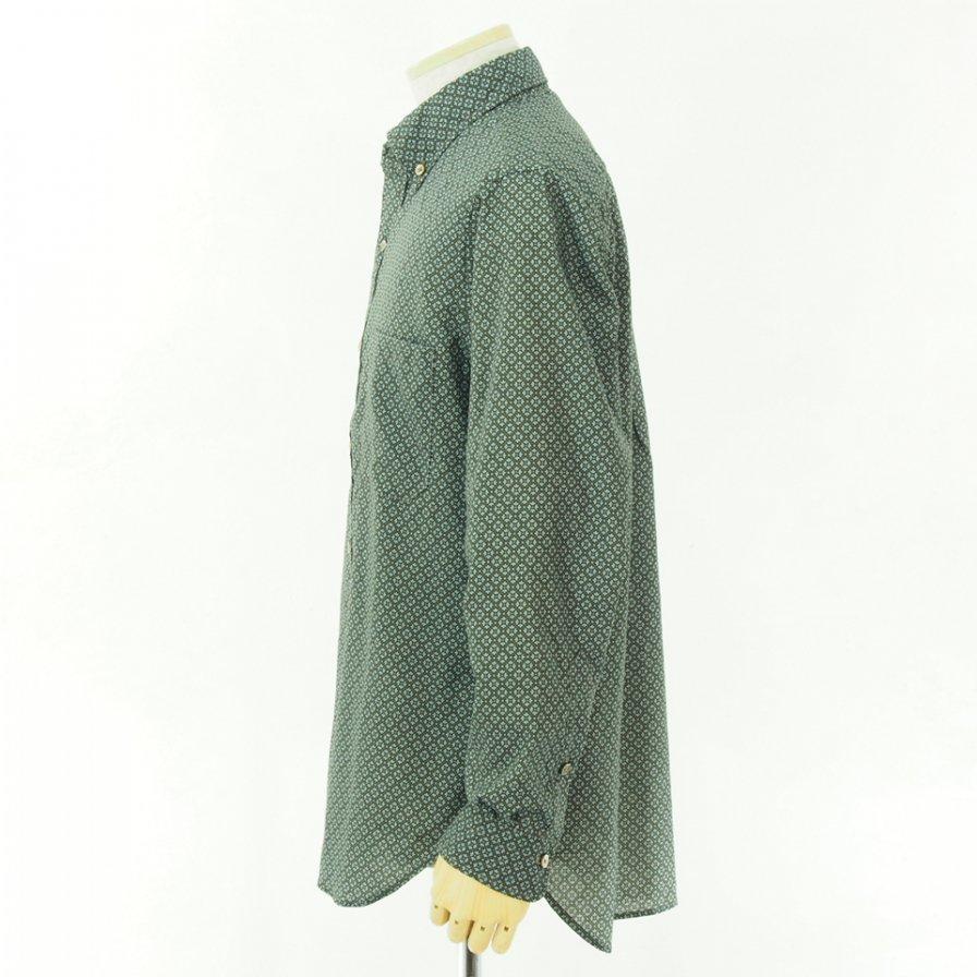 ts(s) ティーエスエス - Crest Print Cotton Cloth B.D. Shirt - Khaki