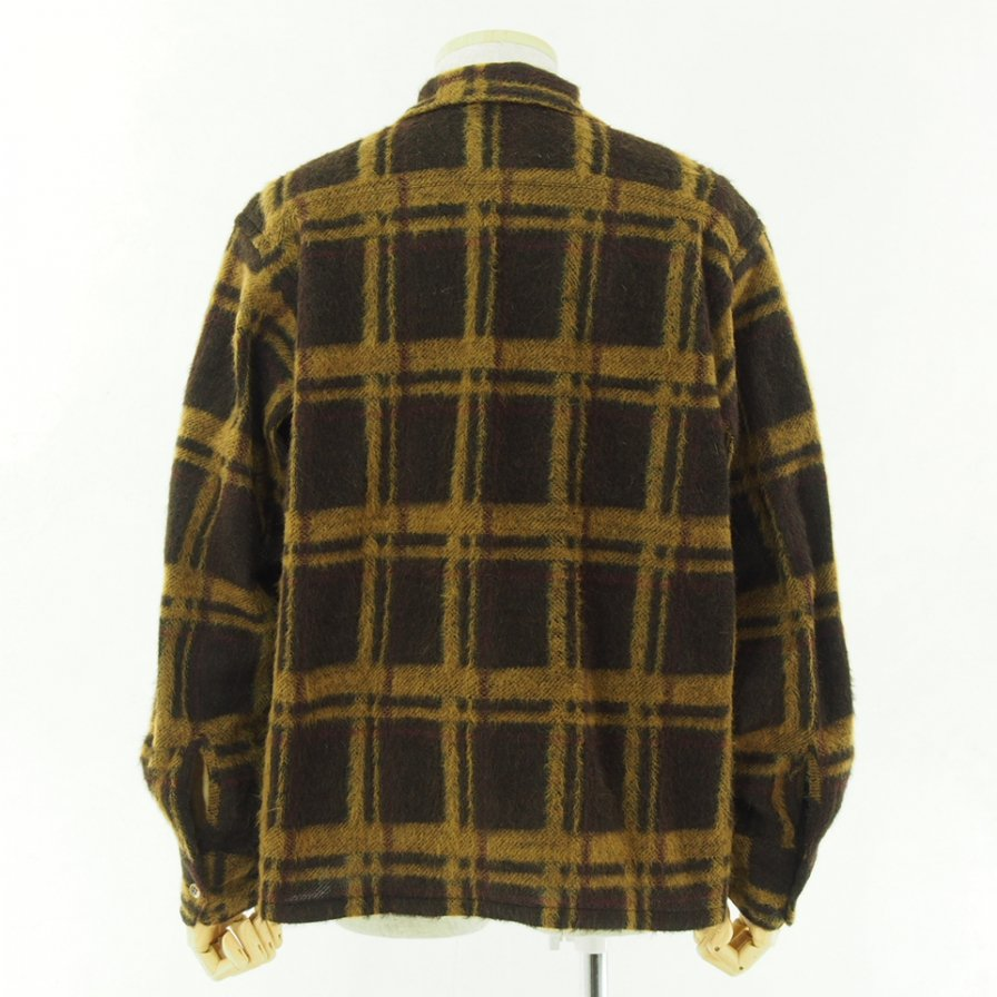 the conspires コンスパイアーズ - Long Sleeve Checked Shirt - Brown / Yellow
