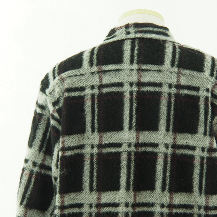 the conspires コンスパイアーズ - Long Sleeve Checked Shirt - Black / White