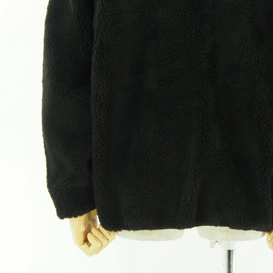 the conspires コンスパイアーズ - Shearling Crew Pullover - Black