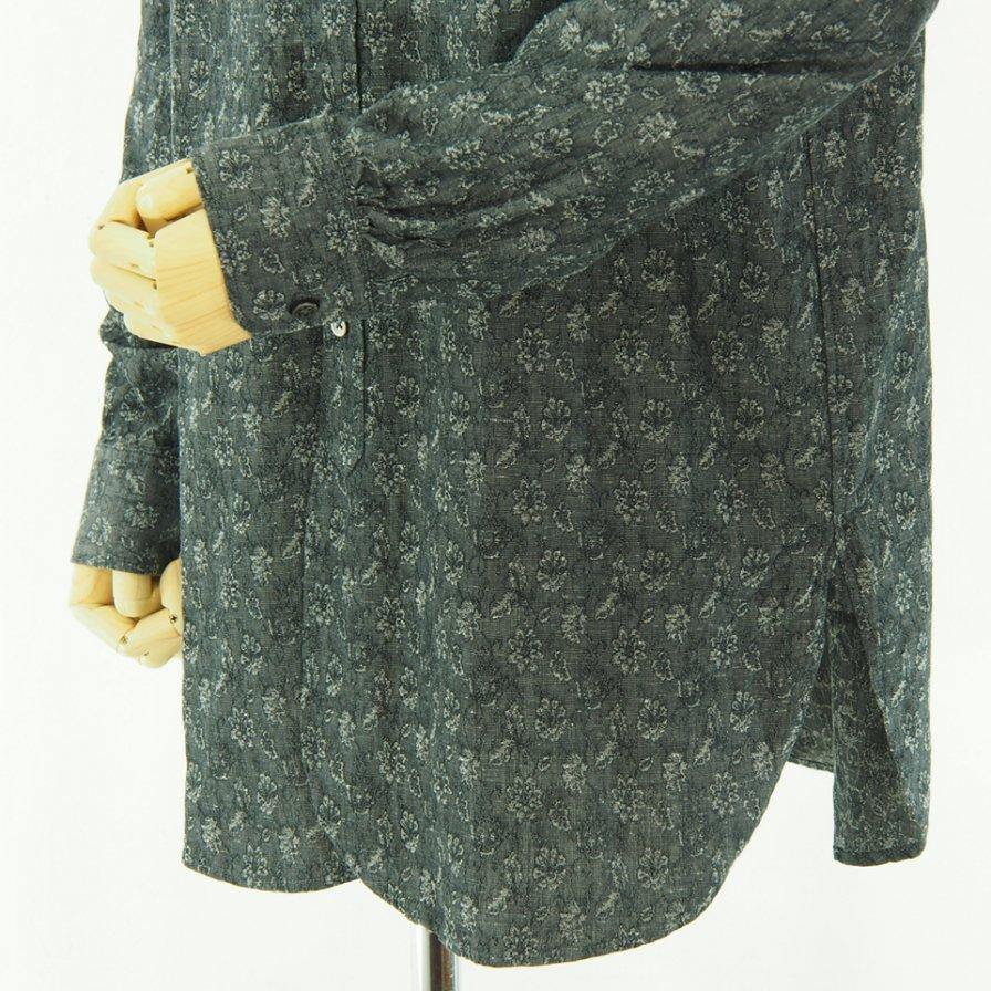 Engineered Garments エンジニアドガーメンツ - 19th BD Shirt - Floral Jac. - Grey