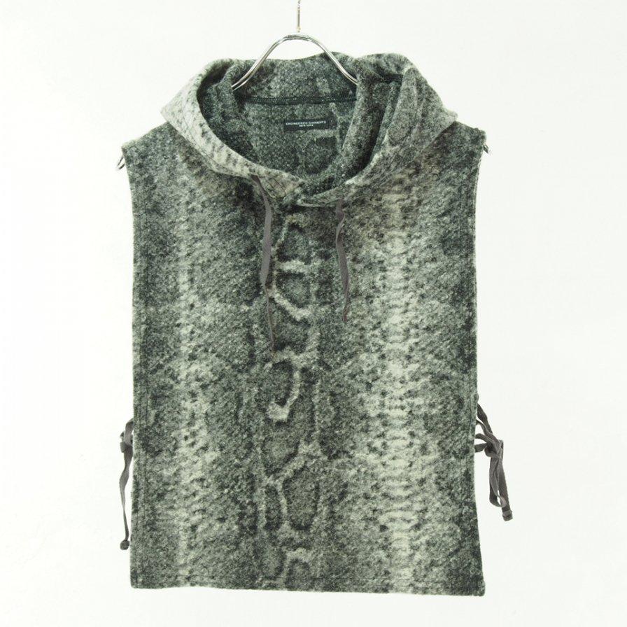 Engineered Garments - Hooded Interliner - Snake Print knit - Grey
